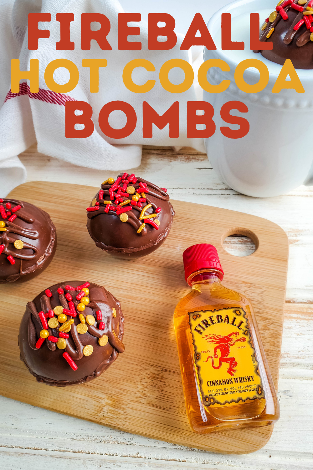 Hot Chocolate Bombs Made With Fireball Whiskey